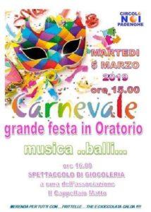 Festa di Carnevale a Padenghe @ oratorio Padenghe s/G | Padenghe Sul Garda | Italia