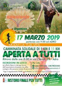 Muovi la tua vita: camminata solidale @ ritrovo: via Cairoli Adro   Adro   Lombardia   Italia