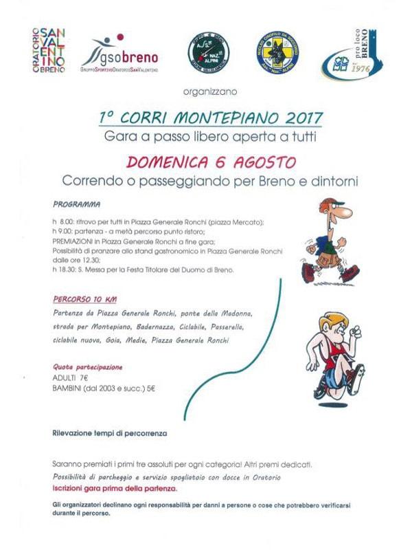 Corri Montepiano a Breno