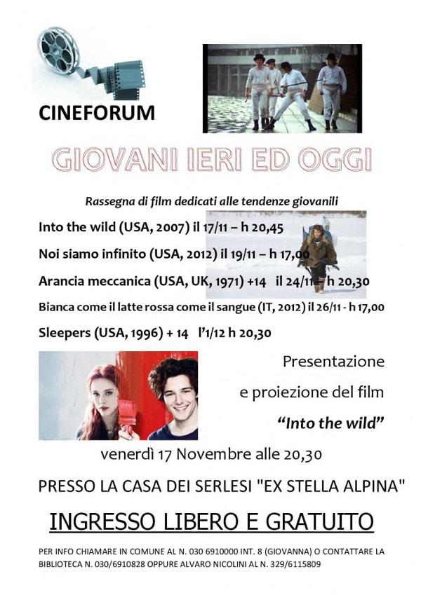Giovani ieri e oggi - Cineforum a Serle