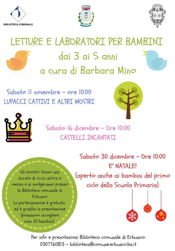 Letture e laboratori per bambini a Erbusco