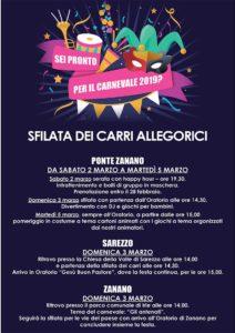 Carnevale a Sarezzo @ Sarezzo , Ponte Zanano e Zanano