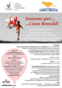 Insieme per Casa Ronald @ ritrovo Piazza Vittoria   Brescia   Lombardia   Italia