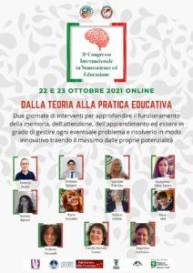 3° Congresso Internazionale in Neuroscienze ed Educazione: dalla teoria alla pratica educativa @ Online   Gambara   Lombardia   Italia