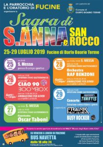 Sagra di S. Anna e S. Rocco @ Fucine di Darfo Boario Terme   Darfo Boario Terme   Lombardia   Italia