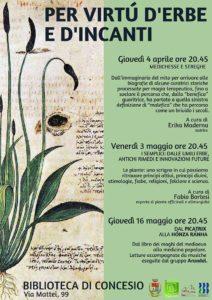 Per virtù d'erbe e d'incanti a Concesio @ Biblioteca di Concesio | Concesio | Lombardia | Italia