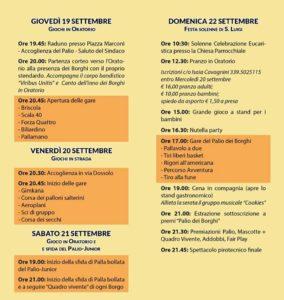 Il palio dei Borghi @ oratorio San Filippo Neri di Gavardo | Gavardo | Lombardia | Italia