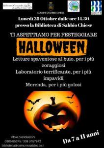Halloween in biblioteca @ Biblioteca Sabbio Chiese
