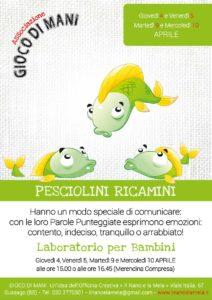 Giocodimani - Pesciolini ricamini @ Officina Creativa Il Nano e la Mela | Gussago | Lombardia | Italia
