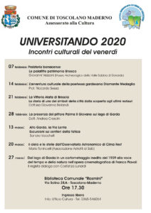 Universitando - incontri culturali @ Sala Consiliare dell'Ex Municipio - Sala Fossati   Toscolano Maderno   Lombardia   Italia