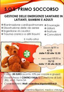 Salò - SOS Primo soccorso @ Presso il CENTRO FABA   Concesio   Lombardia   Italia