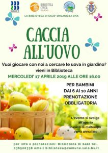 Caccia all'uovo @ Biblioteca di Salò   Salò   Lombardia   Italia