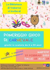 Pomeriggio di Carnevale a Vobarno @ Biblioteca Vobarno - online su Zoom | Vobarno | Lombardia | Italia