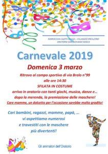 Carnevale al vill. Prealpino @ Ritrovo al campo sportivo di via Brolo n°99