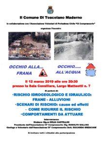Conferenza rischio idro geologico @ sala consiliare comune Toscolano