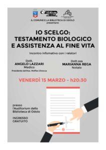 Io scelgo: testamento biologico  e assistenza a fine vita @ Biblioteca di Odolo   Odolo   Lombardia   Italia