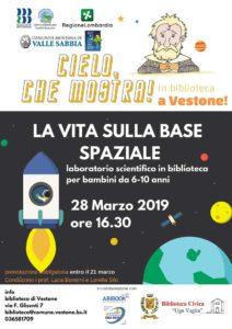 La vita sulla base spaziale a Vestone @ Biblioteca di Vestone | Vestone | Lombardia | Italia
