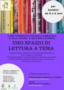 Spazio di lettura a tema @ Biblioteca Villa Carcina