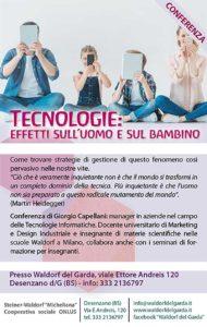 Tecnologie: effetti sull'uomo e sul bambino @ Waldorf del Garda | Lombardia | Italia
