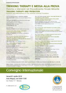 Trekking therapy e messa alla prova @ Università Cattolica del Sacro Cuore Aula Magna