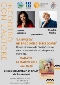 La svolta nei racconti di dieci donne @ Biblioteca  di Salò   Salò   Lombardia   Italia