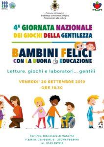 Giornata nazionale dei giochi della gentilezza @ Biblioteca Vobarno | Vobarno | Lombardia | Italia