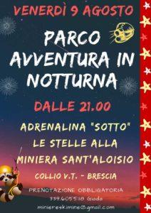 Parco avventura in notturna @ Miniera S. Aloisio   Pezzaze   Lombardia   Italia