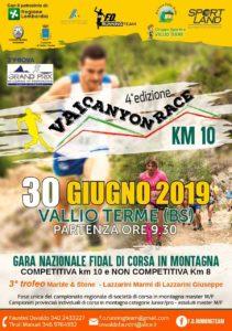 Vai Canyon Race a Vallio Terme @ ritrovo Centro Sportivo Vallio Terme