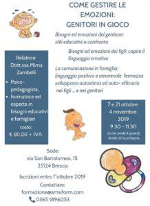Come gestire le emozioni: genitori in gioco @ Brescia | Cunettone | Lombardia | Italia