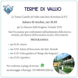 Festa di chiusura delle Terme di Vallio @ Terme di Vallio