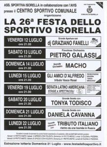 Festa dello sportivo a Isorella @ centro sportivo