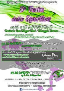 Festa dello sportivo - Villaggio Sereno @ oratorio San Filippo Neri (vill. Sereno)