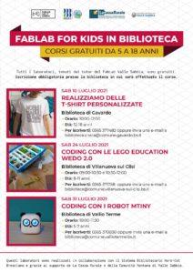 FabLab in Vallesabbia for Kids - laboratori gratuiti nelle biblioteche @ Biblioteche della Valle Sabbia   Villanuova Sul Clisi   Lombardia   Italia