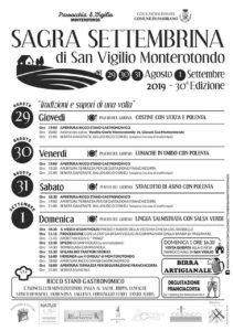 Sagra Settembrina di San Vigilio Monterotondo @ Oratorio Monterotondo