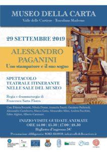Alessandro Paganini - spettacolo teatrale itinerante @ Museo della Carta