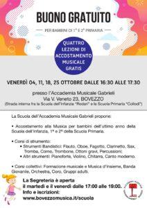 Accostamento alla musica - 4 lezioni gratis! @ Accademia di Musica Gabrieli di Bovezzo