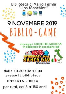Bibliogame - Vallio Terme @ Biblioteca Vallio Terme | Case Nuove | Lombardia | Italia