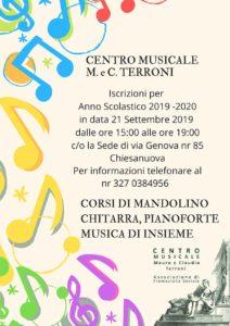 Mandolino, chitarra, pianoforte e musica d'insieme @ sede centro musicale M. e C. Terroni