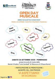 Open day musicale a Villanuova @ Scuola musica banda cittadina