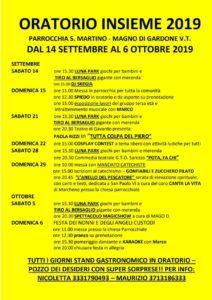 Oratorio Insieme @ oratorio di Magno- frazione di Gardone Val trompia