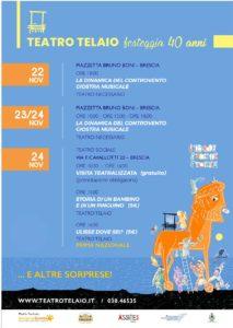 Spettacoli e sorprese per i 40 anni del Teatro Telaio @ Brescia   Lombardia   Italia