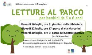 Travagliato - Letture per bambini nei parchi @ Biblioteca Travagliato | Travagliato | Lombardia | Italia