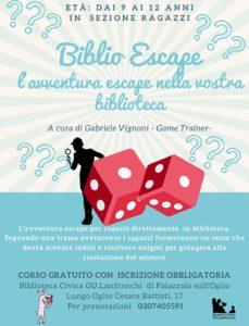 Biblio Escape - Palazzolo @ Biblioteca Palazzolo | Palazzolo sull'Oglio | Lombardia | Italia