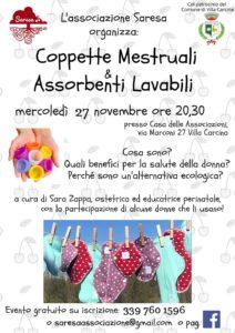 Coppette mestruali e assorbenti lavabili @ Casa delle Associazioni Villa Carcina | Villa Carcina | Lombardia | Italia
