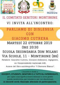 Parliamo di Dislessia con Giacomo Cutrera @ Scuola secondaria Don Milani