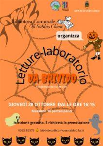 Sabbio Chiese - Halloween da brivido in biblioteca @ Biblioteca di Sabbio Chiese | Sabbio Chiese | Lombardia | Italia