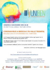UNIBEN - Coronavirus a Brescia @ canale Youtbe Civitas