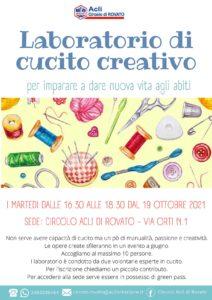 Rovato - Laboratorio di cucito creativo @ Circolo Acli di Rovato | Villanuova Sul Clisi | Lombardia | Italia