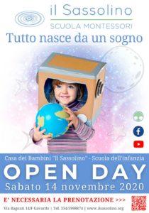 Open Day Sassolino - online @ Il Sassolino - ONLINE | San Giacomo | Lombardia | Italia