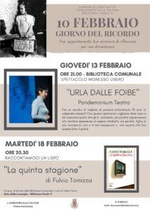Il Giorno del Ricordo a Ospitaletto @ Biblioteca di Ospitaletto | Ospitaletto | Lombardia | Italia